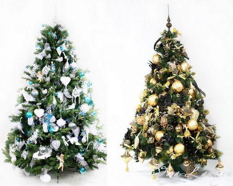 как украсить елку  украшения на елку  рождественская елка