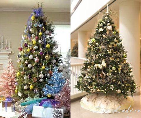 на новый год своими руками как украсить елку  украшения на елку