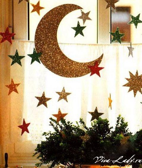 Как оформить окно на новый год своими