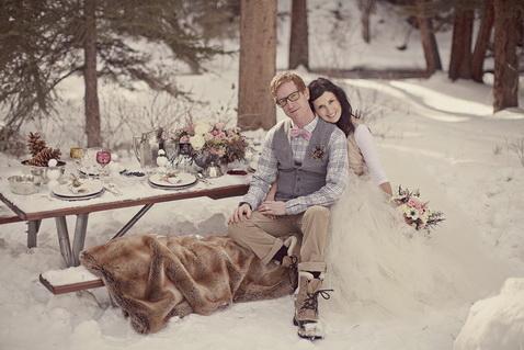 свадьба зимой фото