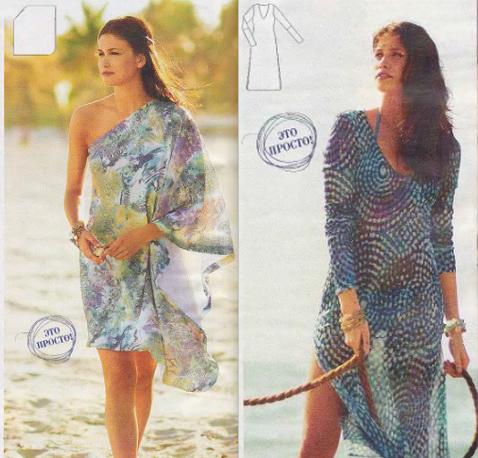 Выкройка туники и пляжных платьев