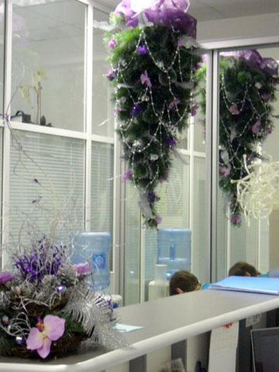 Дизайн в офисе на новый год