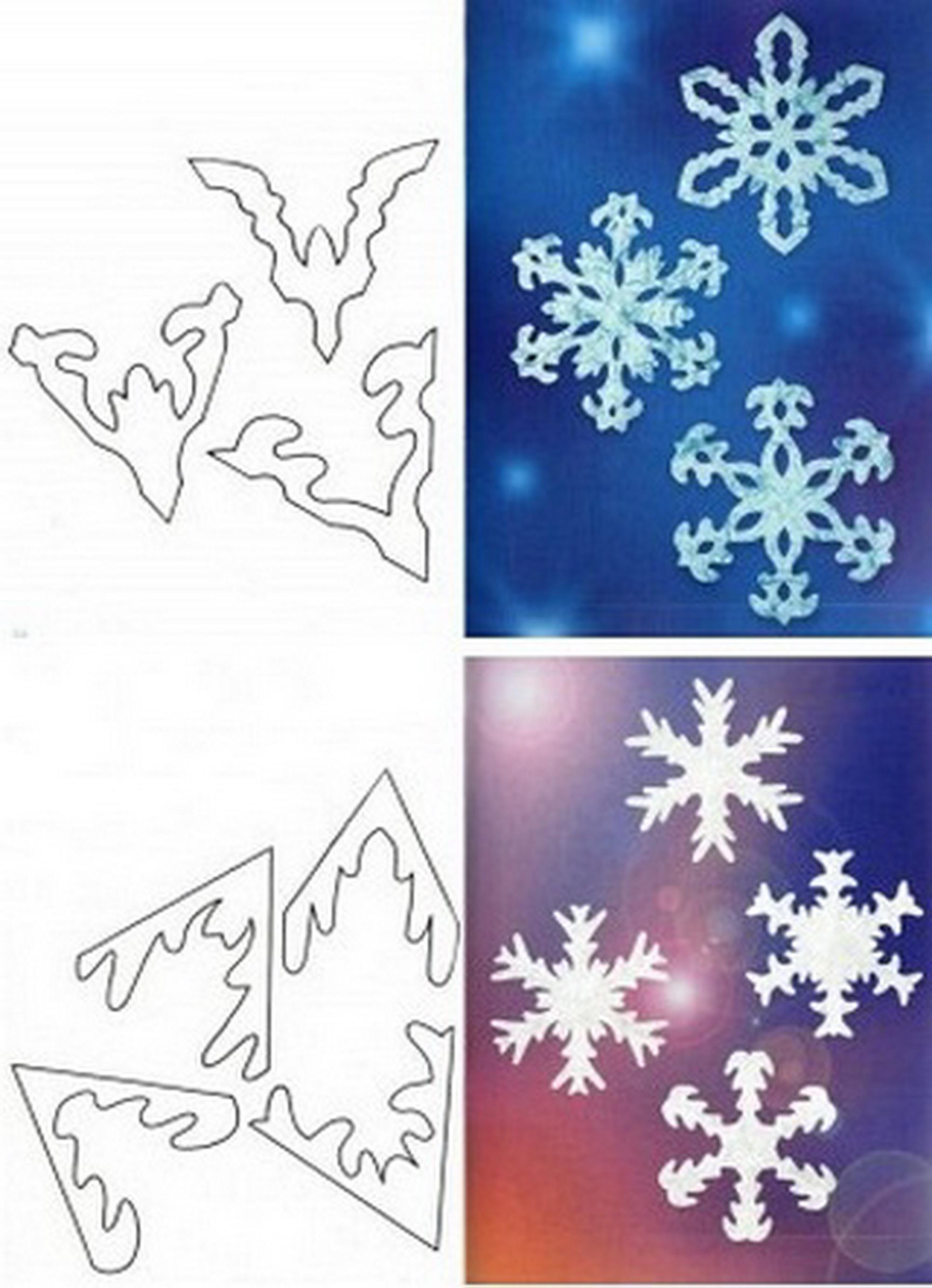 Как сделать снежинки схемы и фото