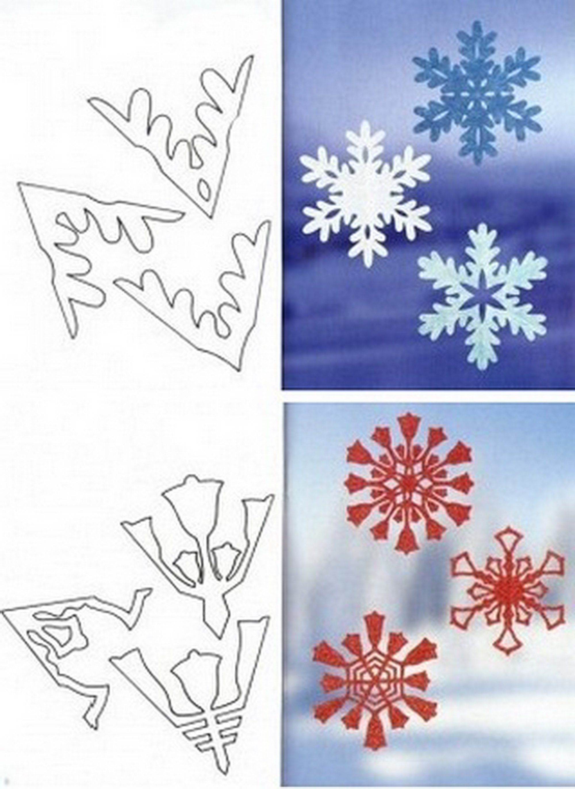 Как из бумаги сделать снежинку фото