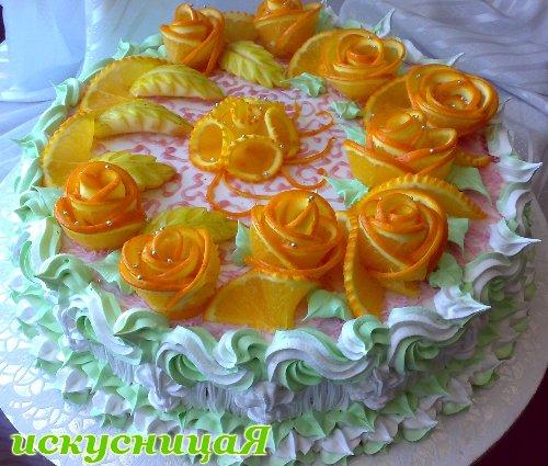 Украшение торта печеньем в домашних условиях