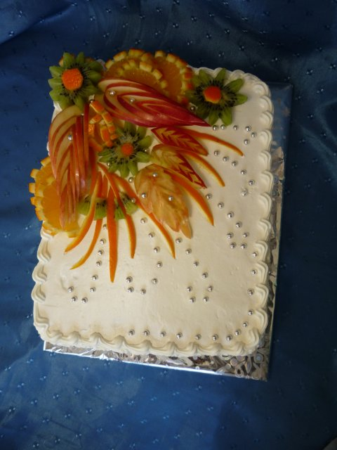 Тортик с фруктами своими руками 178