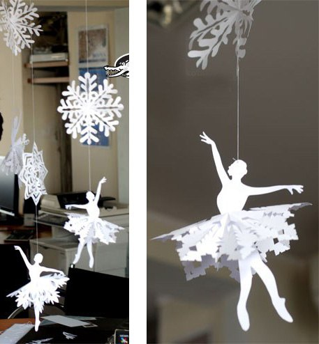 Снежинки балеринки своими руками шаблоны